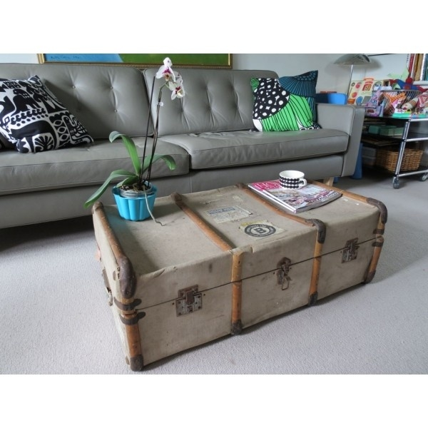 Fantastic Fashionable Old Trunks As Coffee Tables Inside 22 Best Vintage Trunk Makeover Images On Pinterest (Image 17 of 50)