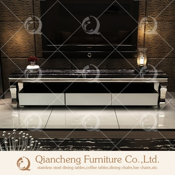 Fantastic Fashionable Silver TV Stands Inside Modern Silver Mirror Tv Stand With 20mm Marble Top Buy Tv Stand (Image 15 of 50)
