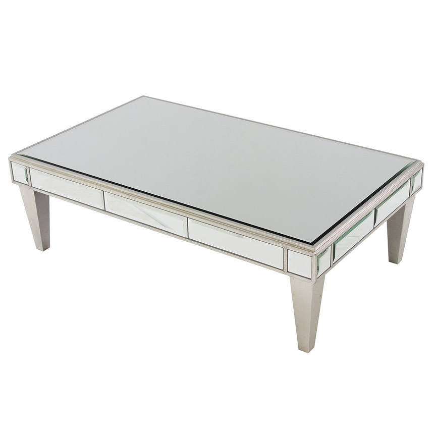 Fantastic Fashionable Small Mirrored Coffee Tables Throughout Venetian Mirrored Small Coffee Table Birch Lane Elliott Mirrored (View 45 of 50)