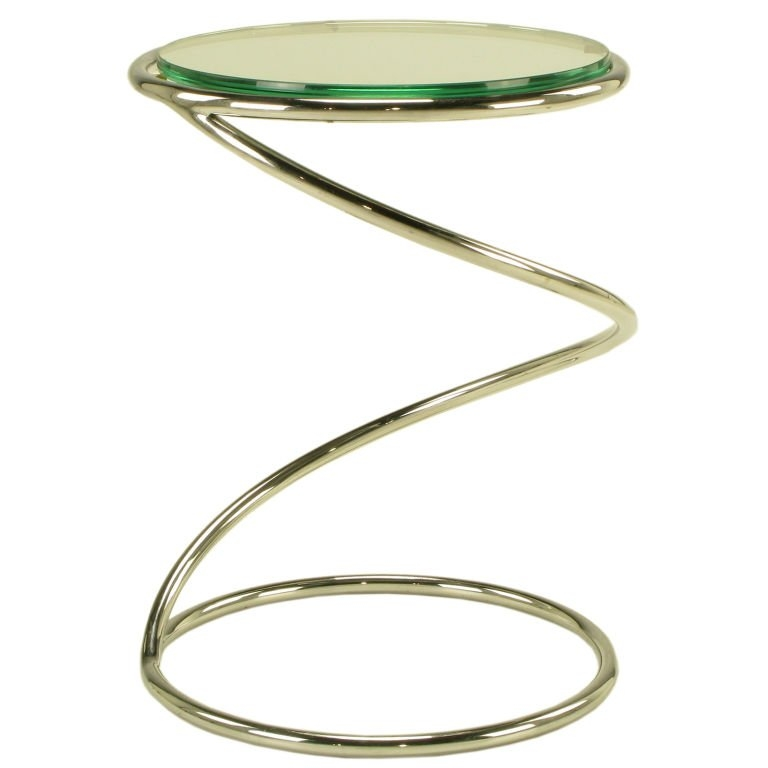 Fantastic Fashionable Spiral Glass Coffee Table Within Pace Collection Glass And Chrome Spiral Side Table At 1stdibs (View 46 of 50)