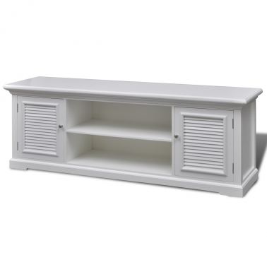 Fantastic Fashionable White And Wood TV Stands In White Wooden Tv Stand Vidaxl (Image 20 of 50)