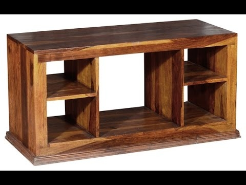 Fantastic Fashionable Wooden TV Stands Intended For Wood Tv Stand Wood Tv Stand With Bracket Youtube (Image 18 of 50)