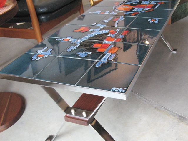 Fantastic Favorite Art Coffee Tables For Metro Modern Glazed Art Tile Coffee Table (Image 20 of 50)