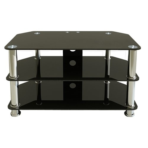 Fantastic Favorite Black Glass TV Stands Intended For Premier Av Hf0040 Plasma And Lcd Tv Silver Leg Stand Upto 37 Inch (View 33 of 50)