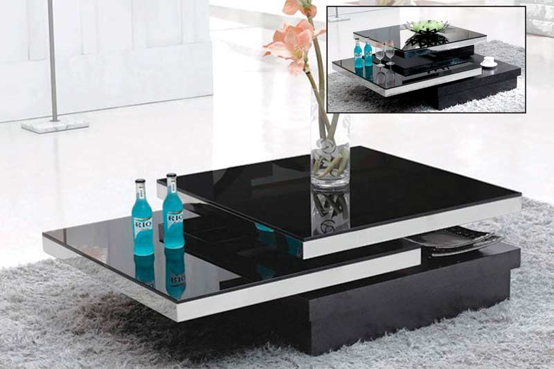 Fantastic Favorite Black Wood And Glass Coffee Tables Intended For Living Room The Black Glass Coffee Table Vg 139 Contemporary (Image 16 of 49)