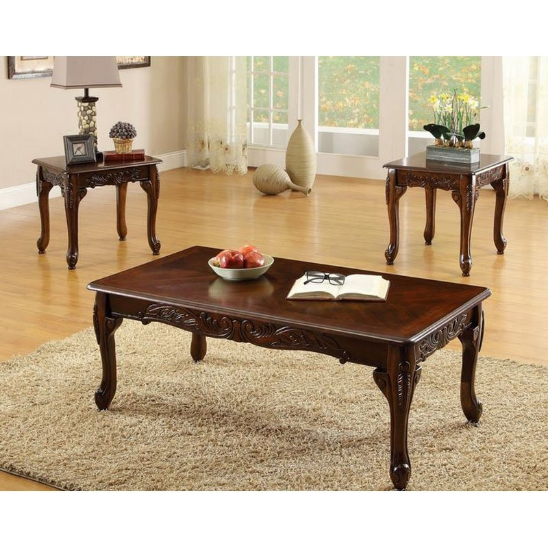 Fantastic Favorite Cherry Wood Coffee Table Sets In Dark Wood Coffee Table Set (View 3 of 50)