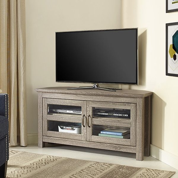 Fantastic Favorite Compact Corner TV Stands Within Tv Stand Small Space Arlene Designs (View 14 of 50)