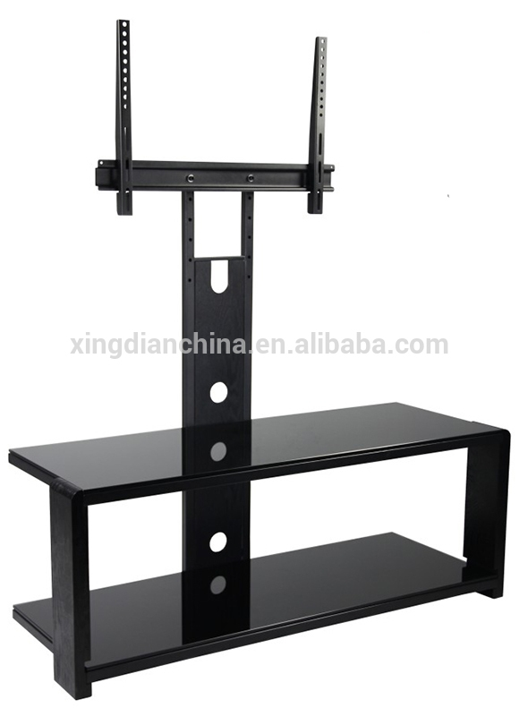 Fantastic Favorite Double TV Stands Pertaining To Led Lcd Plasma 40 Inch Tv Standsdouble Glass Doors Wooden Tv (Image 15 of 50)