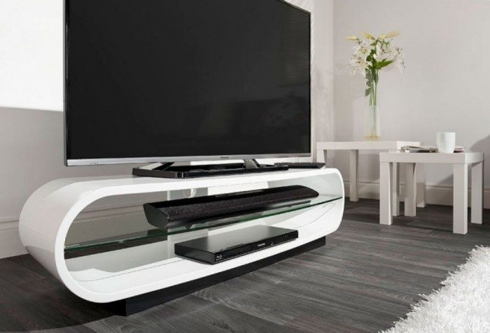 Fantastic Favorite Floating Glass TV Stands With Regard To Minimalist Floating Tv Stand In White Color Useful And Stylish (Image 15 of 50)