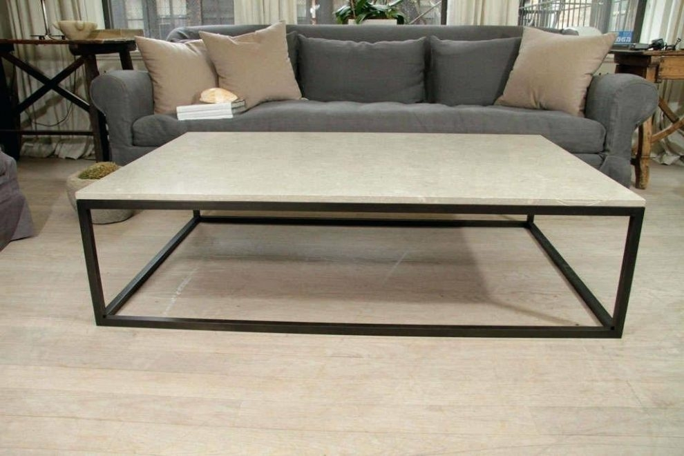 Fantastic Favorite Large Low Square Coffee Tables With Regard To Square Stone Coffee Table Jeffleeco (Image 12 of 50)