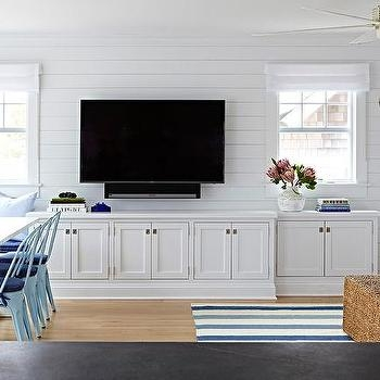 Fantastic Favorite Long White TV Cabinets Throughout Long White Tv Room Ottoman Design Ideas (Image 18 of 50)