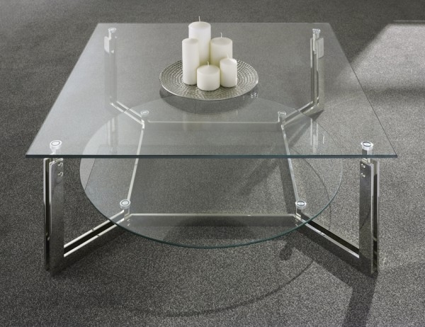 Fantastic Favorite Luna Coffee Tables For Serene Luna Coffee Table In Polished Stainless Steel And Glass (View 15 of 40)