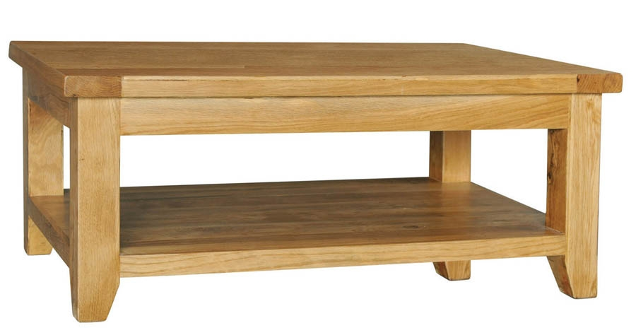 Featured Image of Oak Coffee Table With Shelf