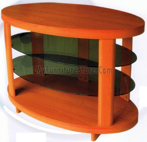 Fantastic Favorite Orange TV Stands Within Oval Plasma Tv Stand 4120 Home Source (View 18 of 50)
