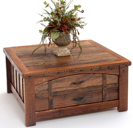 Fantastic Favorite Rustic Coffee Table Drawers In Barnwood Coffee Rustic Coffee Tables Reclaimed Barn Wood Coffee (Image 16 of 50)