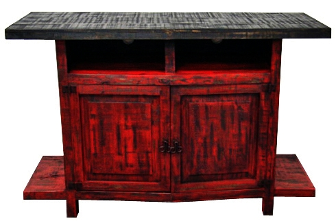 Fantastic Favorite Rustic Red TV Stands Regarding Red Tv Stand Great Western Furniture Company (Image 13 of 50)