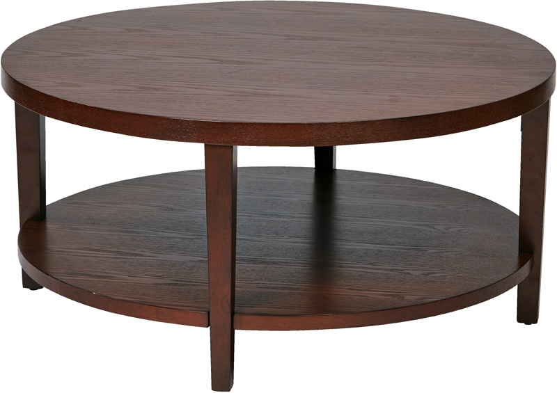 Fantastic Favorite Solid Round Coffee Tables Throughout Ave Six Merge 36 Round Coffee Table With Solid Wood Legs (Image 14 of 40)