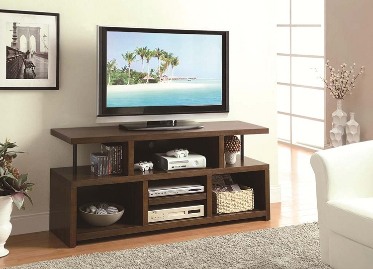 Fantastic Favorite Storage TV Stands Regarding Tv Stands Casual Tv Console With Open Storage (Image 18 of 50)