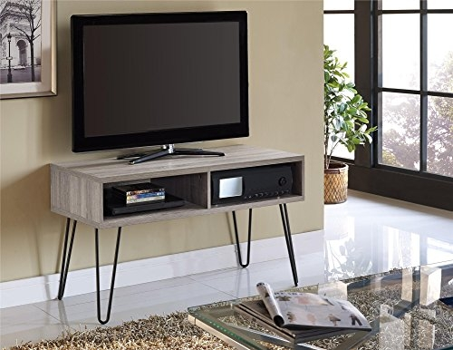 Fantastic Favorite Ultra Modern TV Stands Inside Amazon Altra Owen 42 Retro Tv Stand Sonoma Oakgunmetal (Image 13 of 50)