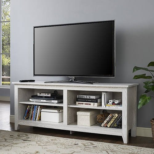 Fantastic Favorite White And Wood TV Stands In Inch White Wash Wood Tv Stand Walker Edison (Image 21 of 50)