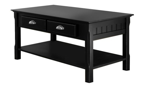 Fantastic High Quality Black Wood Coffee Tables In Amazon Winsome Wood Black Coffee Table Kitchen Dining (Image 20 of 40)