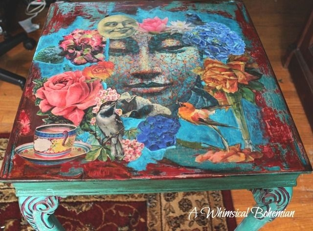 Fantastic High Quality Boho Coffee Tables Pertaining To Best 20 Decoupage Coffee Table Ideas On Pinterest Vintage Paper (View 7 of 50)
