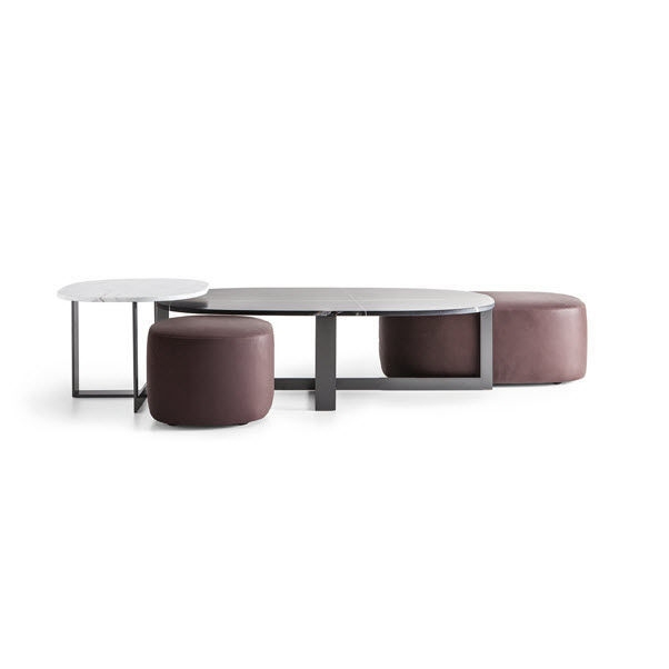 Fantastic High Quality C Coffee Tables Intended For Contemporary Coffee Table Leather Stone Fabric Domino Next (View 27 of 50)