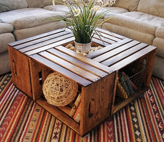 Fantastic High Quality Coffee Table With Wicker Basket Storage With Classy White Wood Coffee Table With Centerpiece Decor Also Bottom (Image 19 of 40)