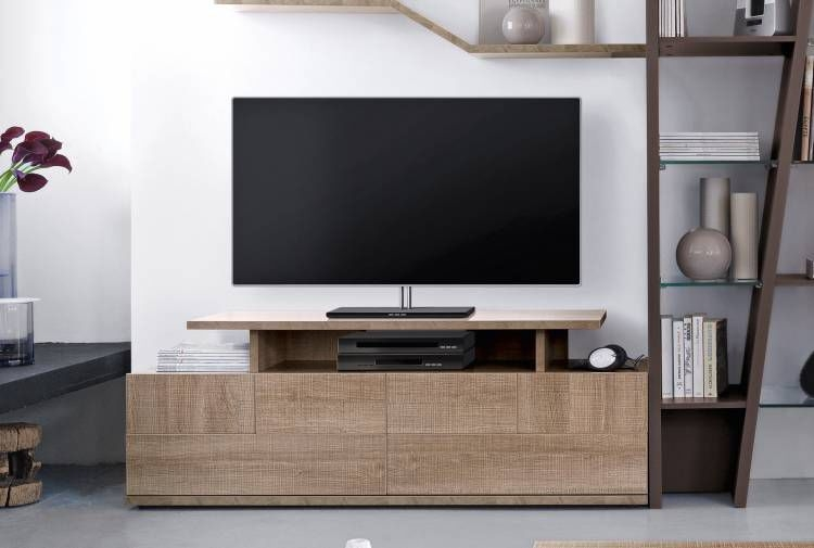 Fantastic High Quality Contemporary Oak TV Cabinets For Contemporary Tv Cabinet Hi Fi Oak Brem Gautier (Image 17 of 50)