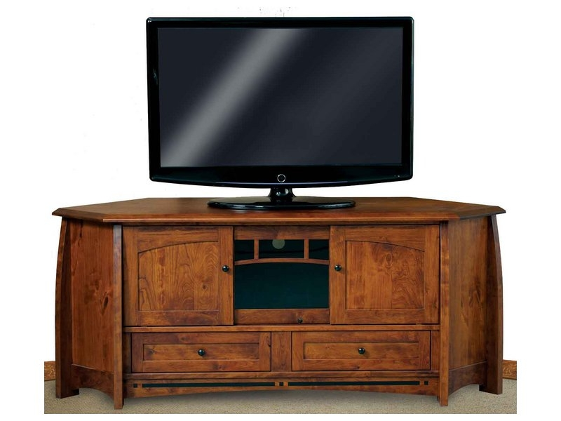 Fantastic High Quality Corner TV Cabinets Within Corner Tv Cabinets And Stands Brandenberry Amish Furniture (Image 15 of 50)