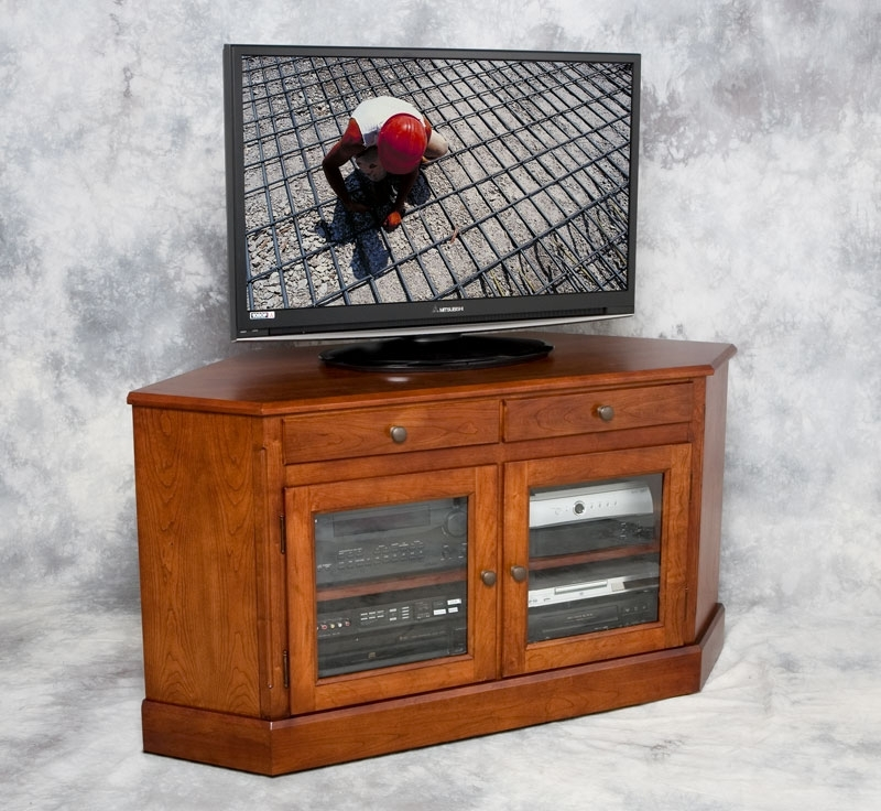 Fantastic High Quality Corner Wooden TV Cabinets With Regard To Perfect Corner Tv Cabinet Wood Inspirations Cabinet Furniture (View 13 of 50)