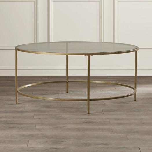 Fantastic High Quality Floating Glass Coffee Tables Regarding Living Room The Elegant Round Brass Coffee Table Frame Glass In (Image 14 of 50)