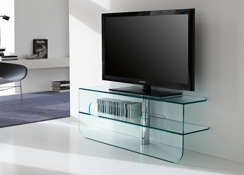 Fantastic High Quality Glass TV Cabinets Regarding Tonelli Plasmatik Tv Unit Tonelli Design Tv Units (Image 23 of 50)