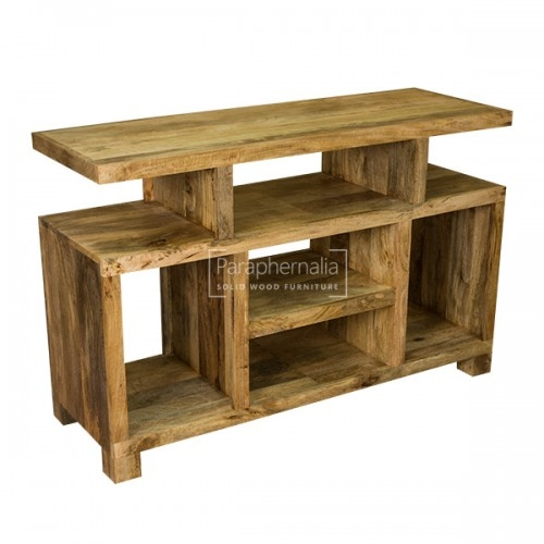 Fantastic High Quality Mango TV Stands Throughout Ambala Cube Light Mango Wood Tv Dvd Unit Entertainment Unit (Image 14 of 50)
