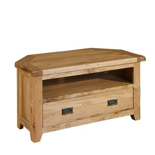 Fantastic High Quality Oak Corner TV Cabinets In Just Right Furniture Chateau Rustic Reclaimed Oak Corner Tv Unit (Image 16 of 50)