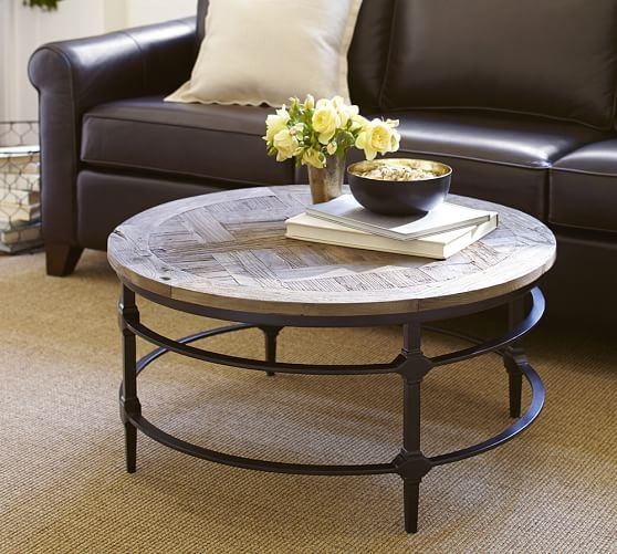 Fantastic High Quality Reclaimed Wood And Glass Coffee Tables Intended For Coffee Table Parquet Reclaimed Wood Round Coffee Table Wood (View 32 of 50)