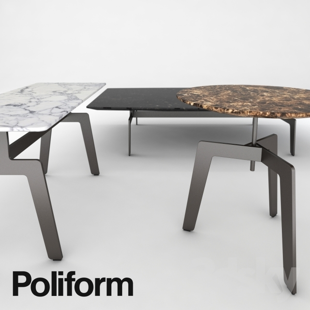 Fantastic High Quality Tribeca Coffee Tables With Regard To 3d Models Table Poliform Tribeca Coffee Table (View 19 of 50)