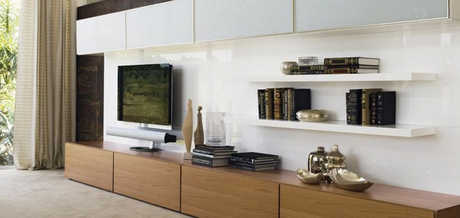 Fantastic High Quality TV Stands And Bookshelf Intended For Living Space Design With Simple Design With Wooden Tv Stand And (Image 16 of 50)