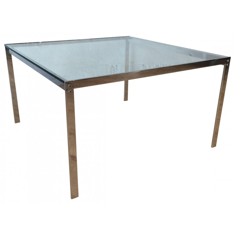 Fantastic High Quality Vintage Glass Coffee Tables In Vintage Glass And Chrome Plated Metal Coffee Table For Sale At Pamono (View 41 of 50)