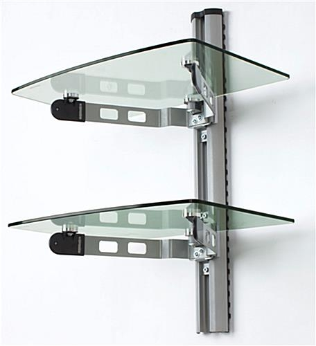 Fantastic High Quality Wall Mount Adjustable TV Stands Within Wall Mounted Glass Shelves Av Component Stand (View 34 of 50)