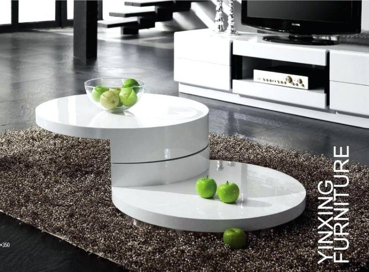 Fantastic High Quality White High Gloss Coffee Tables Pertaining To Modern White Round Coffee Table 213e Modern White Coffee Table (View 50 of 50)