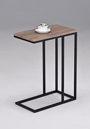 Fantastic Latest Chrome And Wood Coffee Tables In Amazon Reclaimed Wood Look Finish Chrome Snack Side End Table (Image 14 of 50)