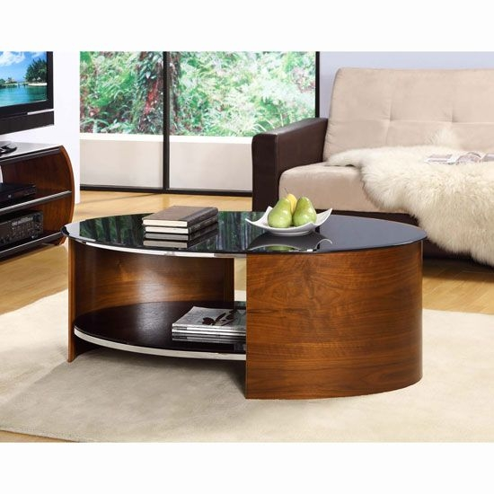 Fantastic Latest Coffee Tables With Oval Shape Within Best 25 Black Glass Coffee Table Ideas That You Will Like On (Image 13 of 50)