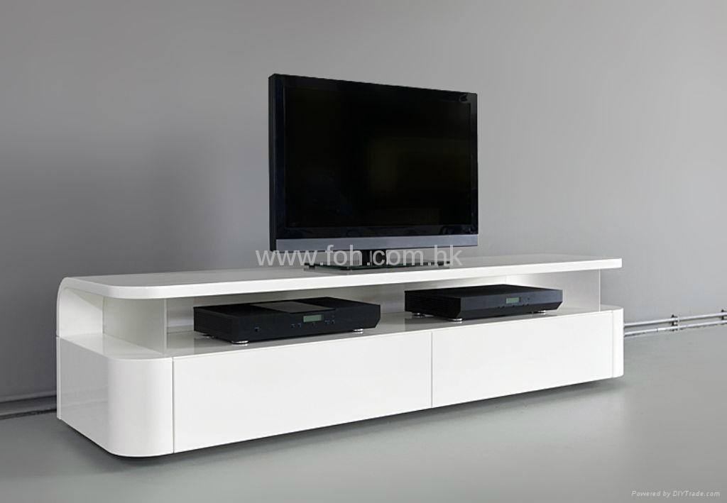 Fantastic Latest Glossy White TV Stands Pertaining To Modern Wall Units For Living Room Tv Stand Glass Plasma Tv Stand (Image 19 of 50)