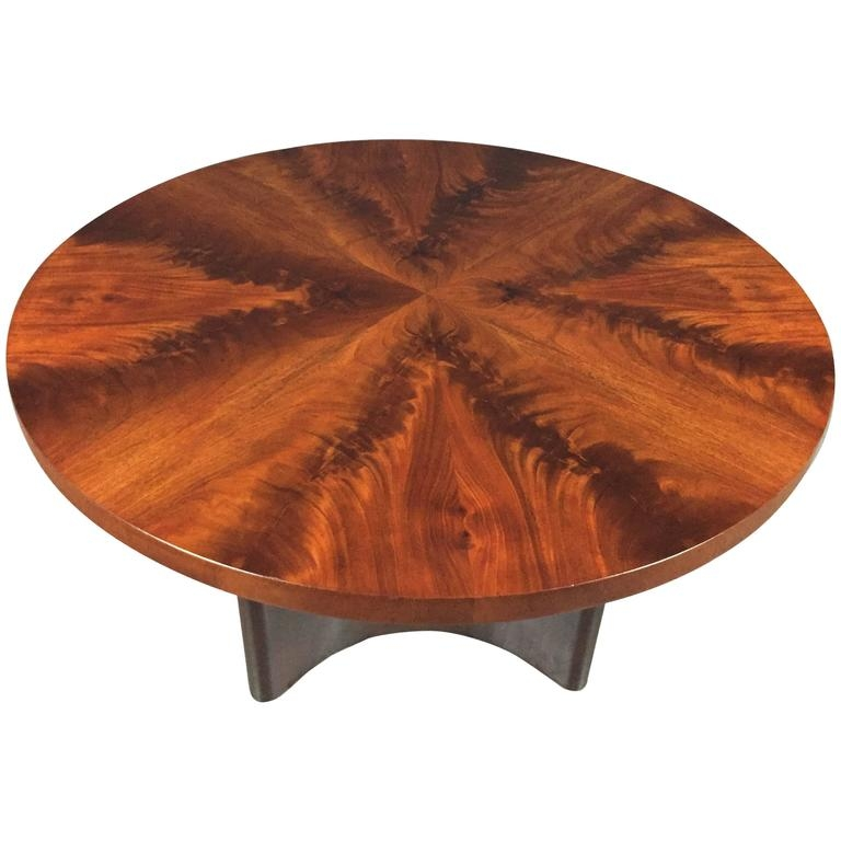 Fantastic Latest Mahogany Coffee Tables For Swedish Art Deco Crotch Mahogany Coffee Table Dated 1940 At 1stdibs (Image 14 of 50)