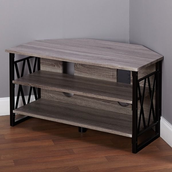 Fantastic Latest Silver Corner TV Stands With Regard To Best 25 Corner Tv Table Ideas On Pinterest Corner Tv Tv Stand (Image 23 of 50)