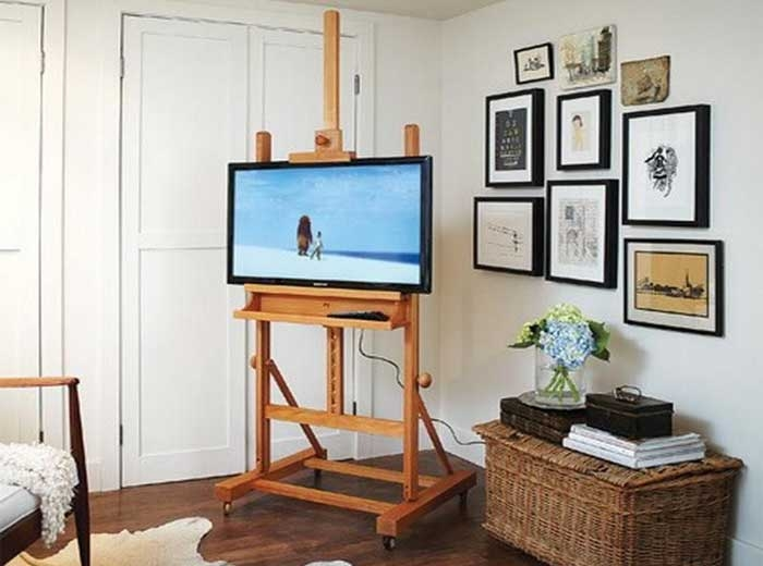 Fantastic Latest Small TV Stands On Wheels Throughout 50 Creative Diy Tv Stand Ideas For Your Room Interior Diy (Image 16 of 50)