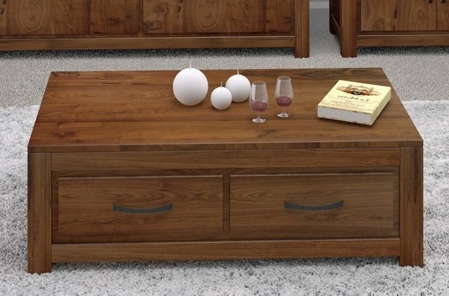 Fantastic Latest Solid Oak Coffee Table With Storage For Coffee Table Glamorous Coffee Tables With Drawers Designs (Image 15 of 50)