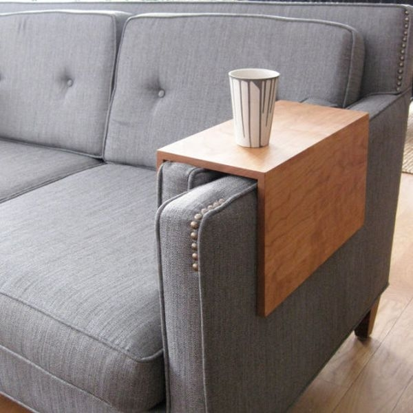 Fantastic Latest Space Coffee Tables Pertaining To Couch Arm Wrap A Space Saving Alternative To Coffee Tables Homecrux (Image 18 of 50)