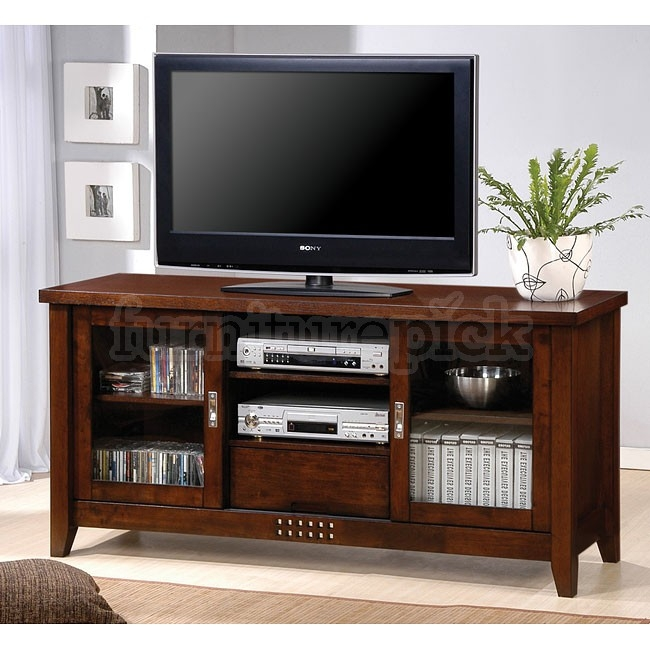 Fantastic Latest Walnut TV Stands With Walnut Finish Tv Stand Coaster Furniture Furniturepick (View 26 of 50)